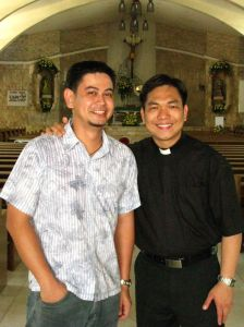 Bro. Utoy and Rev. Jhoen after the ordination